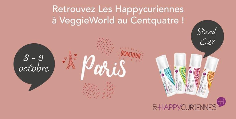 Les Happycuriennes et leurs soins cosmétiques vegan seront présentes au salon VeggieWorld à Paris les 208 et 09 octobre 2016