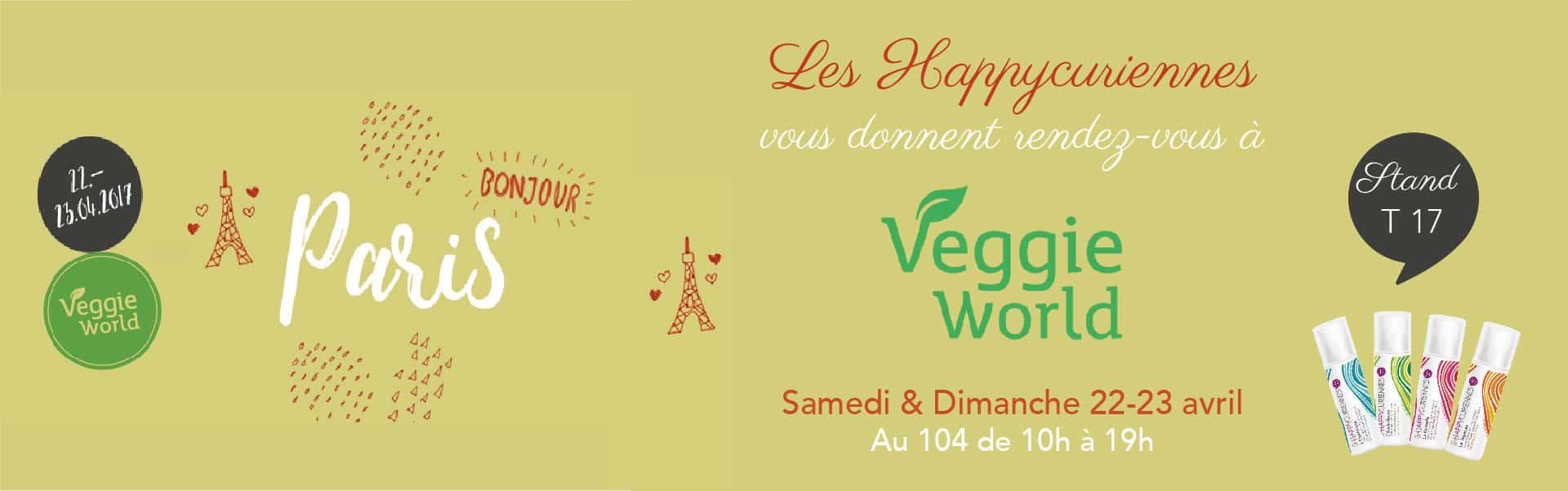 Les Happycuriennes à VeggoeWorld Paris en avril 2017