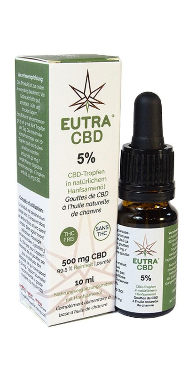 Cannabidiol  5 % Eutra CBD  10 ml – Interlac