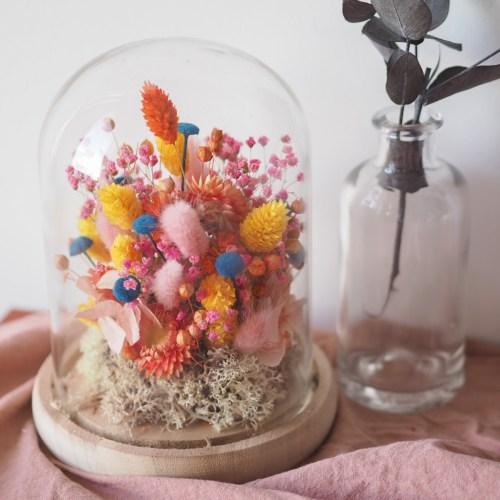 Cloche fleurie Mina (réalisée à la commande)