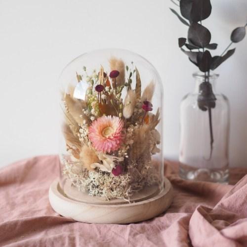 Cloche fleurie Marcelle (réalisée à la commande)