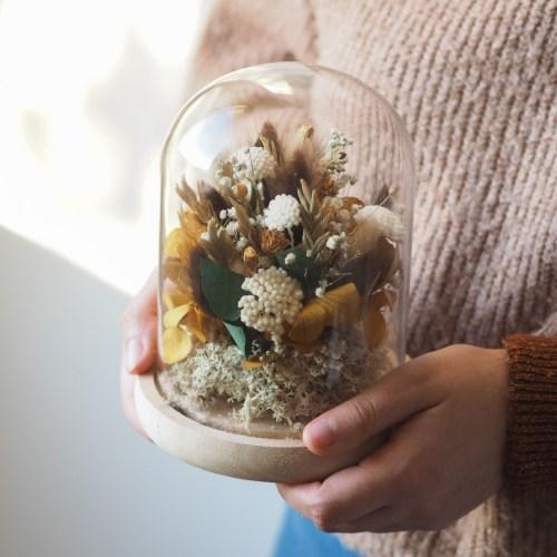 Cloche fleurie Claudie (réalisée à la commande)