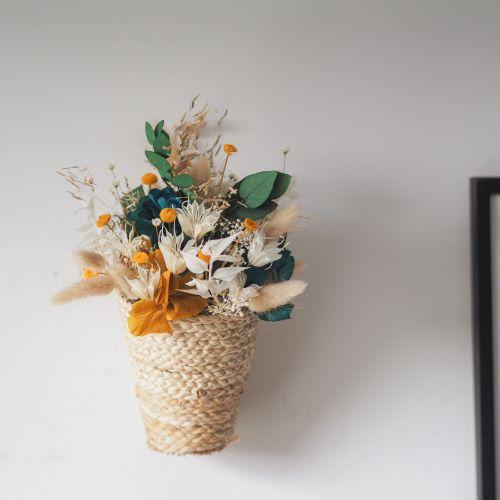 Panier fleuri Alba (réalisé à la commande)
