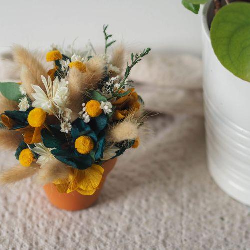 Mini pot fleuri Alba (réalisé à la commande)