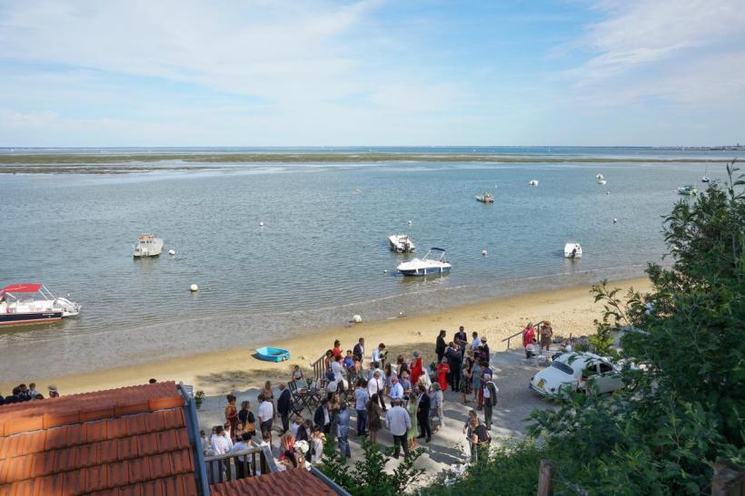Réception de mariage en bord de mer