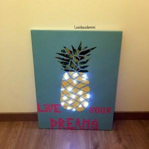 Toile lumineuse ananas
