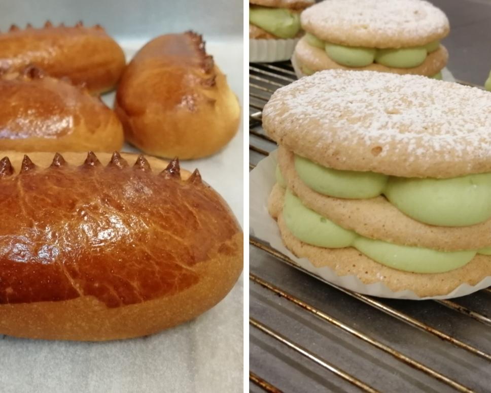 Recette CAP pâtissier, semaine 13 : Pain au lait + couronne + succès pistache (dont biscuit Daquoise)