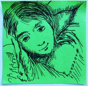 Renata-Post-it-challenge-fille