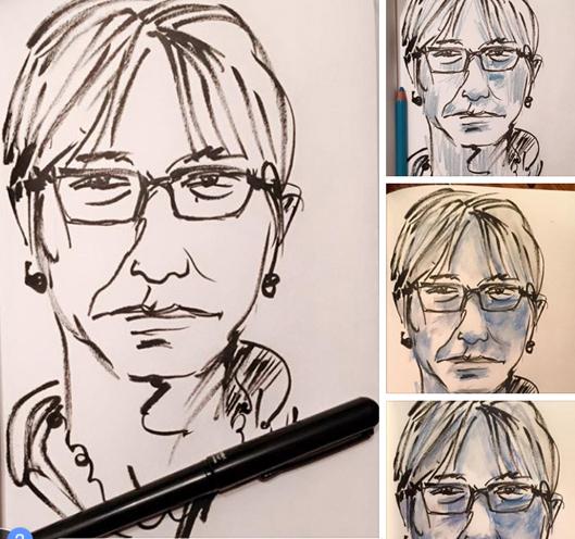 Dessin du jour dessiner son autoportrait for Outil pour dessiner