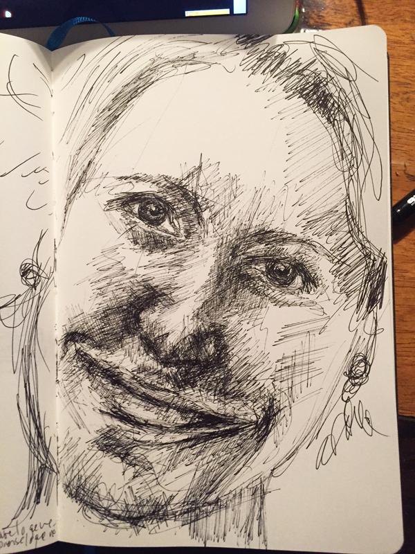 dessiner-portrait-stylo