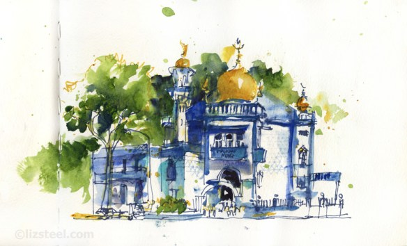 LizSteel-SIngapore-Blue-Mosque-Kampong-Glam