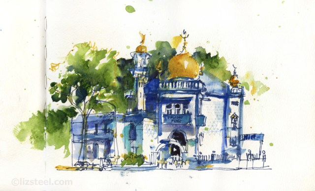 LizSteel-SIngapore-Blue-Mosque-Kampong-Glam