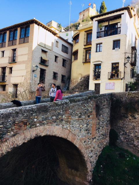 puente pont en granada, paysages jolies, espagne