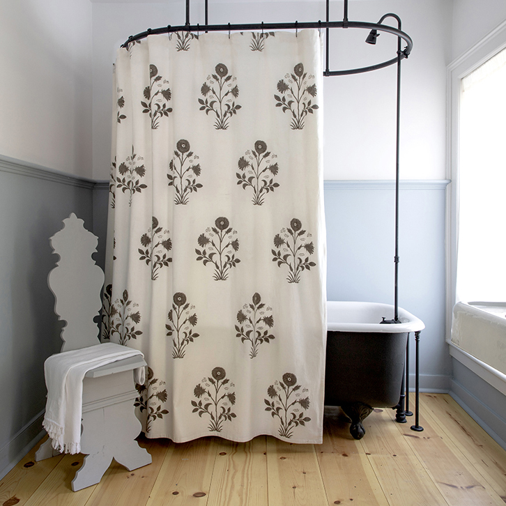 veronique shower curtain in french grey