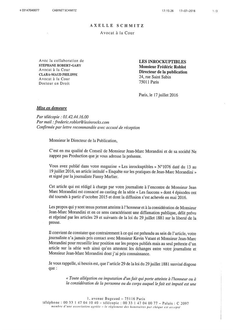 Les Faucons - Episode 2 (version - 16 Ans) : faucons, episode, (version, Enquête, Pratiques, Jean-Marc, Morandini, (suite), Inrocks