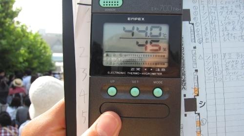 Comiket 80, température.