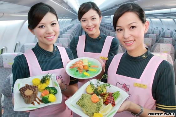 Hotesse de l'air Eva Air & HK