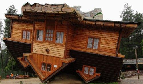 Maison retourné en Pologne.