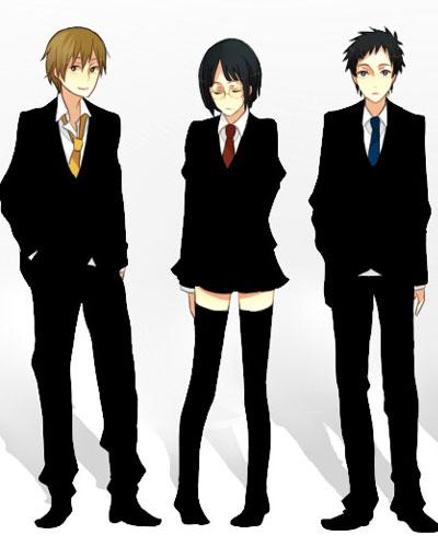 Masaomi, Anri, Mikado, durarara!!