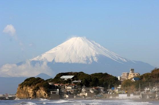 Plage de Shichirigahama à Kamakura city