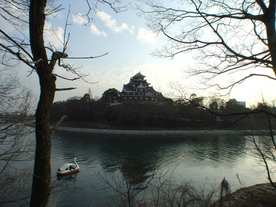 Château d'Okayama vue de la rivière
