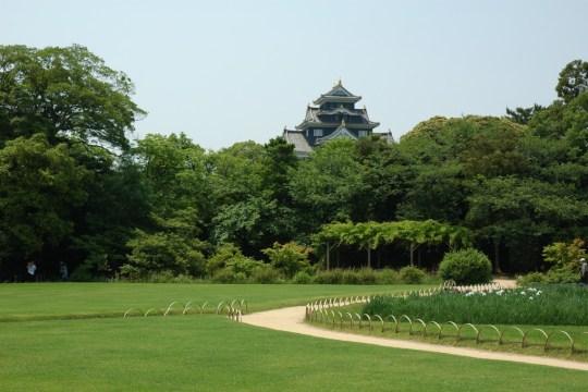Korakuen, vue sur le château.
