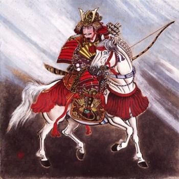 Oda Nobunaga sur son cheval.
