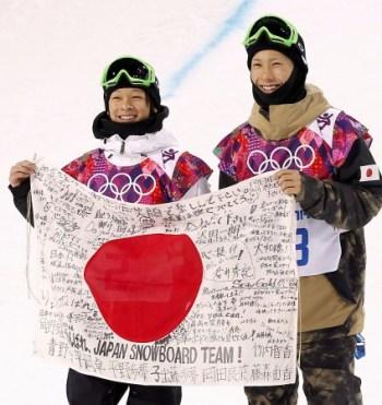 Snowboarder silver & bronze