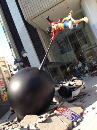 luffy sculpture