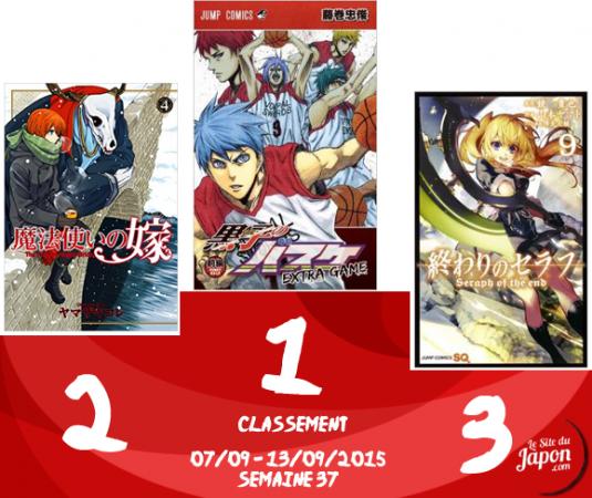 Classement Manga 2015 | semaine 36 | 07/09 au 13/09