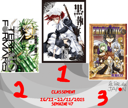 Classement Manga 2015 | semaine 47 | 16/11 au 22/11