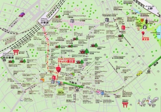 Map parc ueno katsutaro
