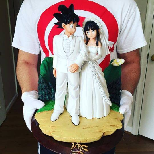 Goku et Chichi mariage, figurines dragon ball