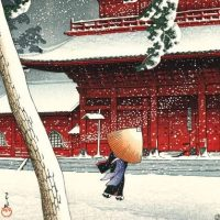 Paysage du Japon par Hasui Kawase, Estampe moderne