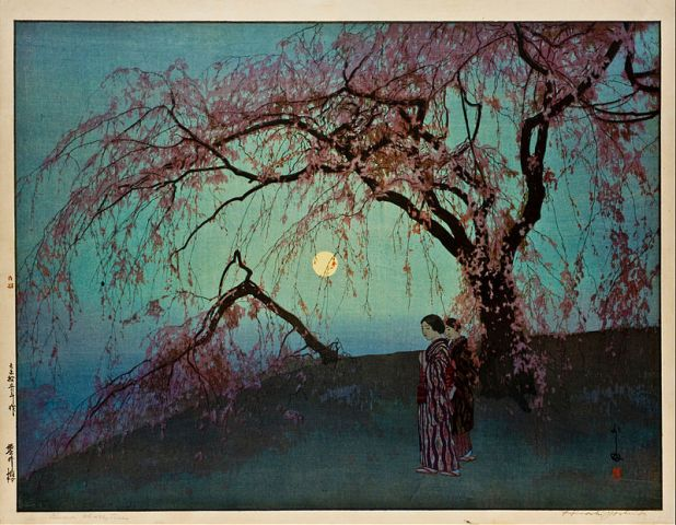 """""""Kumoi Zakura"""" - 1920, Hiroshi Yoshida."""