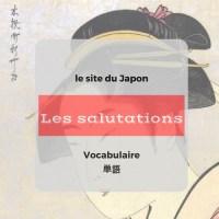 Les salutations en japonais