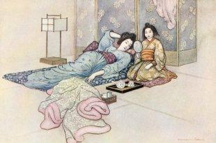 le miroir de Matsuyama, illustration par Warwick Goble, 1910