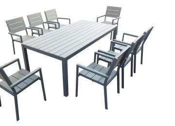 Table Jardin Alu Granit   Lg Outdoor Roma Aluminium 6 Seat Garden ...
