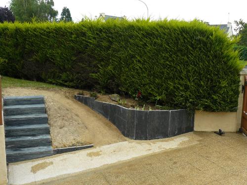 Escalier en schiste  Les Jardins de la Biosphre
