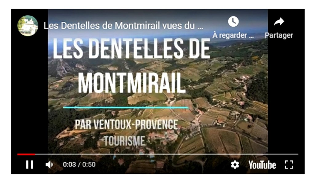 Film Youtube des Dentelles à Gigondas