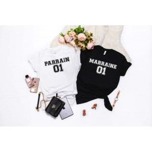 Duo de Tee-shirts Parrain & Marraine