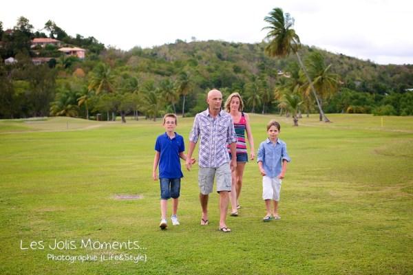 Famille A au Golf des Trois Ilets 1