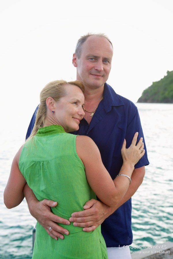 Seance photo touristes russes en Martinique