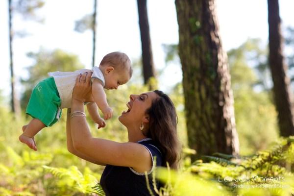 Seance en famille avec bebe dans les Landes 1