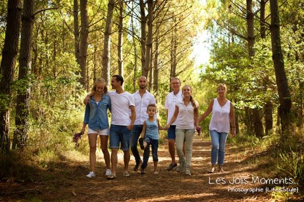 Seance photo grande famille au Courant d huchet 35