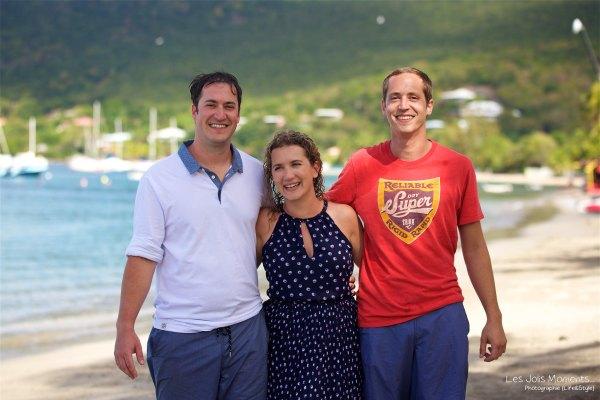 Seance grande famille sur la plage de Grande Anse 36