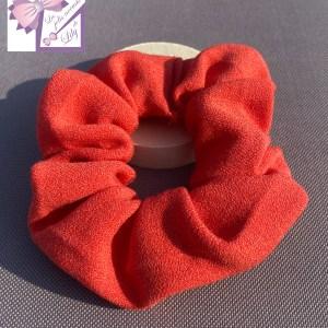 chouchou corail création accessoire cheveux