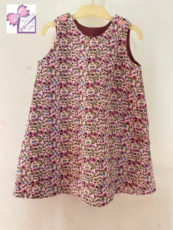 robe réversible hiver petite fille liberty mode
