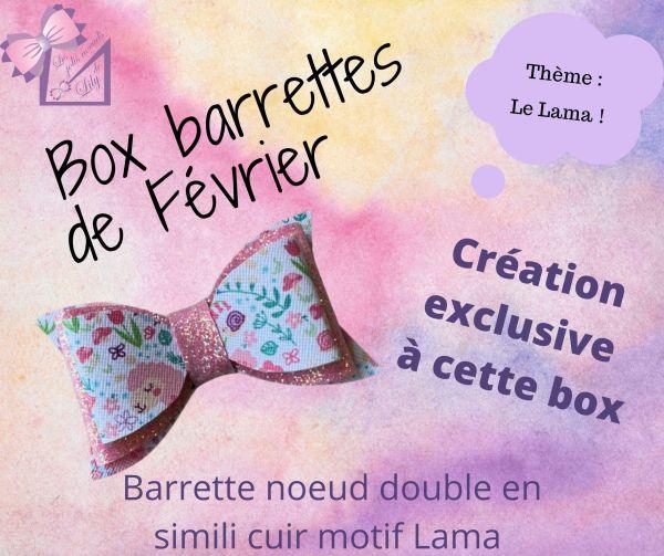 box barrettes idée cadeau anniversaire petite fille fait main accessoires de cheveux coiffure