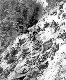 ANZAC troops dug in on the seaward slopes of Steele's Post